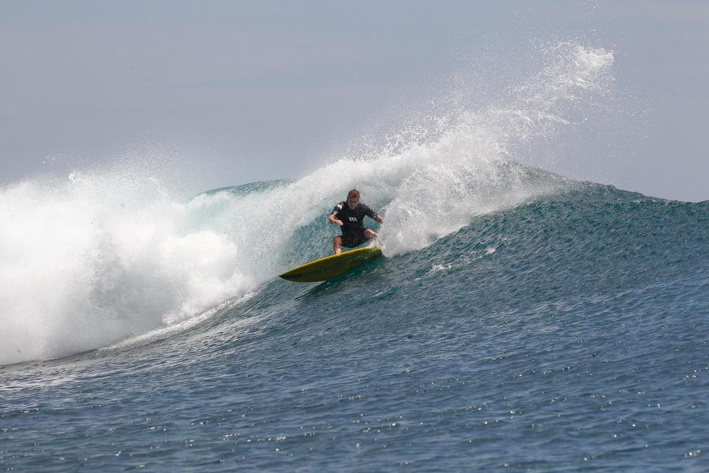 Phillip Chapman finds a best wave